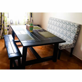Farmhouse Dining Set with a Bench Main