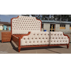 6x6 bed made in mahogany Mkwaju Furniture Nairobi