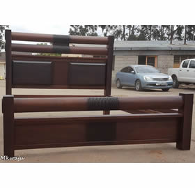 Mahogany Bali Bed Mkwaju Furniture Nairobi