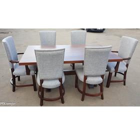 6 Seater Hard Wood Dining Set Mkwaju Furniture Nairobi
