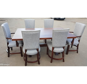 6 Seater Hard Wood Dining Set Mkwaju Furniture Nairobi